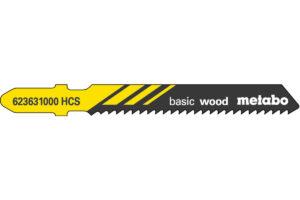 5 пилкових полотен Metabo для лобзиків «basic wood». 51/ 2.0 мм (623631000)