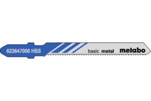 5 пилкових полотен Metabo для лобзиків «basic metal». 51/ 1.2 мм (623647000)
