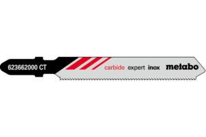 3 пилкових полотна Metabo для лобзиків «expert inox». 57/ 1.1 мм (623662000)