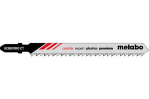 3 пилкових полотна Metabo для лобзиків «expert plastics premium». 91/ 3.3 мм (623687000)