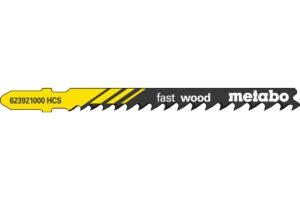 5 пилкових полотен Metabo для лобзиків «fast wood». /progr. (623921000)