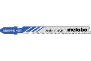 5 пилкових полотен Metabo для лобзиків «basic metal». 66 мм/progr. (623924000)