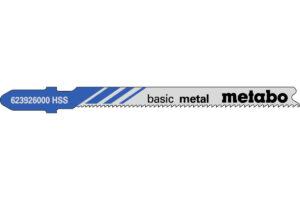 5 пилкових полотен Metabo для лобзиків «basic metal». 66 мм/progr. (623926000)