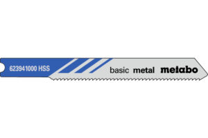 5 пилкових U — подібних полотен Metabo для лобзиків «basic metal». 52/1.2 мм (623941000)