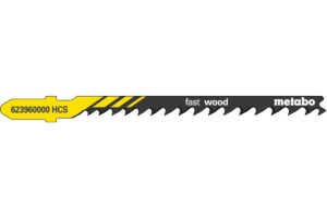 5 пилкових полотен Metabo для лобзиків «fast wood». 74 мм/progr. (623960000)