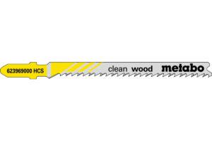 5 пилкових полотен Metabo для лобзиків «clean wood». 74/ 2.7 мм (623969000)