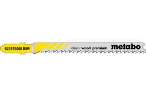 5 пилкових полотен Metabo для лобзиків «clean wood premium». 74/ 2.7 мм (623975000)