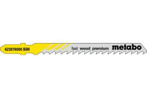 5 пилкових полотен Metabo для лобзиків «fast wood premium». 74/ 4.0 мм (623976000)