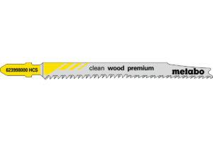 5 пилкових полотен Metabo для лобзиків «clean wood premium». 93/ 2.2 мм (623998000)