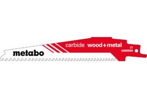Пилкове полотно Metabo для шабельної пилки «carbide wood + metal». 150 x 1.25 мм (626559000)