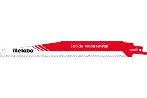 Пилкове полотно Metabo для шабельної пилки «carbide wood + metal». 225 x 1.25 мм (626560000)