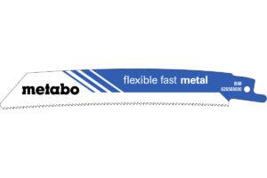 5 пилкових полотен Metabo для шабельних пилок «flexible fast metal». 150 x 1.1 мм (626568000)