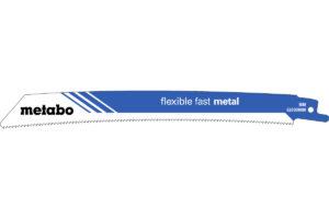 5 пилкових полотен Metabo для шабельних пилок «flexible fast metal». 225 x 1.1 мм (626569000)