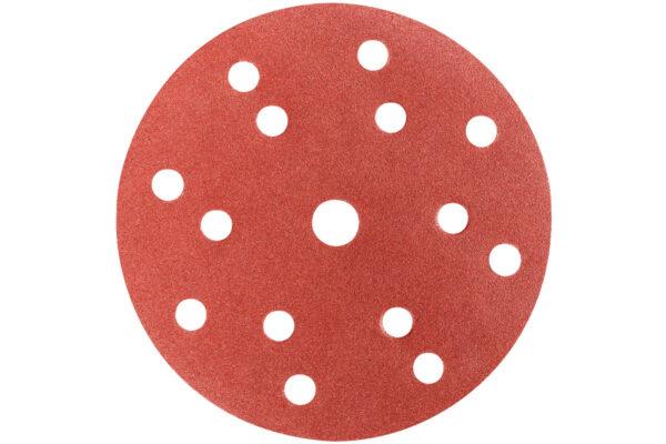 50 шліфувальних аркушів Metabo на липучках 150 мм, P100, Д+М, «multi-hole» (626677000)