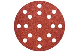 50 шліфувальних аркушів Metabo на липучках 125 мм, P100, Д+М, «multi-hole» (626851000)