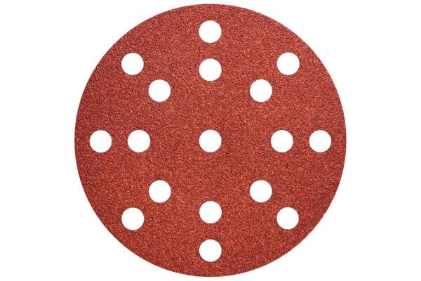 50 шліфувальних аркушів Metabo на липучках 125 мм, P320, Д+М, «multi-hole» (626855000)