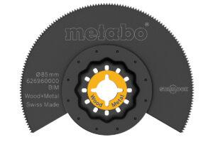 Сегментне Пилкове полотно Metabo, дерево/метал. BiM. Ø 85 мм (626960000)
