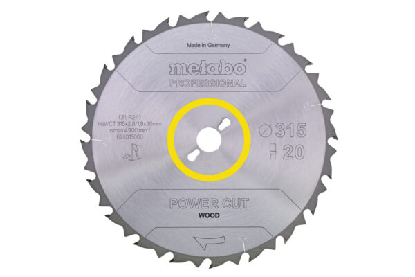 Пилкове полотно Metabo «power cut wood — professional», 250×30, Z24 WZ 25° (628012000)