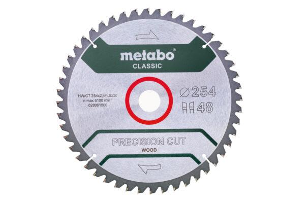 Пилкове полотно Metabo «precision cut wood — classic», 254×30, Z48 WZ 5°neg. (628061000)