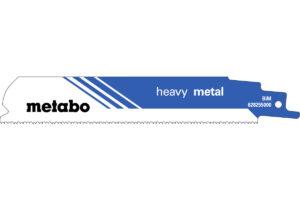 5 пилкових полотен Metabo для шабельних пилок «heavy metal». 150 x 1.1 мм (628255000)