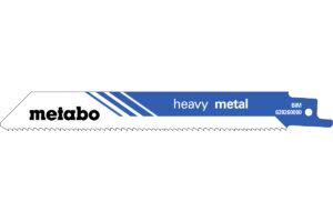 5 пилкових полотен Metabo для шабельних пилок «heavy metal». 150 x 1.25 мм (628260000)
