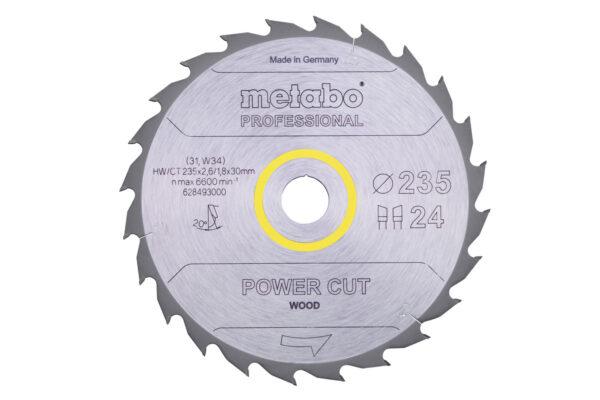 Пилкове полотно Metabo «power cut wood — professional», 235×30, Z24 WZ 20° (628493000)