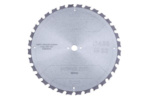 Пилкове полотно Metabo «power cut wood — classic», 450×3,5/2,5×30 Z32 TZ 15° (628648000)