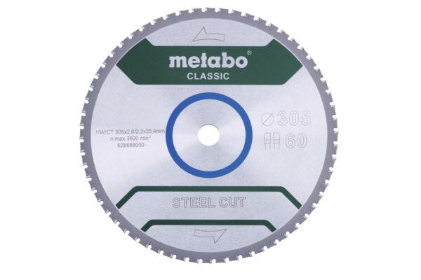 Пилкове полотно Metabo «steel cut — classic», 355×25,4 Z72 FZFA/FZFA 4° (628669000)
