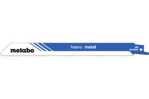 5 пилкових полотен Metabo для шабельних пилок «heavy metal». 200 x 1.25 мм (631909000)