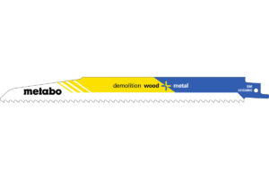 5 пилкових полотен Metabo для шабельних пилок «demolition wood + metal». 225 x 1.6 мм (631926000)