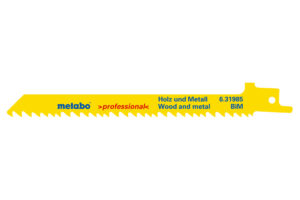 5 пилкових полотен Metabo для шабельних пилок «heavy wood + metal». 150 x 1.25 мм (631985000)