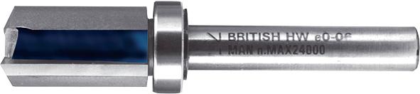 Профільна фреза з підшипником Т.С.Т. 90° 16 мм хвостовик 8 мм