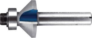 Фреза для обробки кромок з підшипниковою направляючою Т.С.Т. 45° 18 мм хвостовик 12 мм